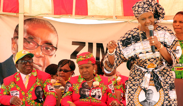 Grace Mugabe charging against Joyce Mujuru, Zimbabwe's VP