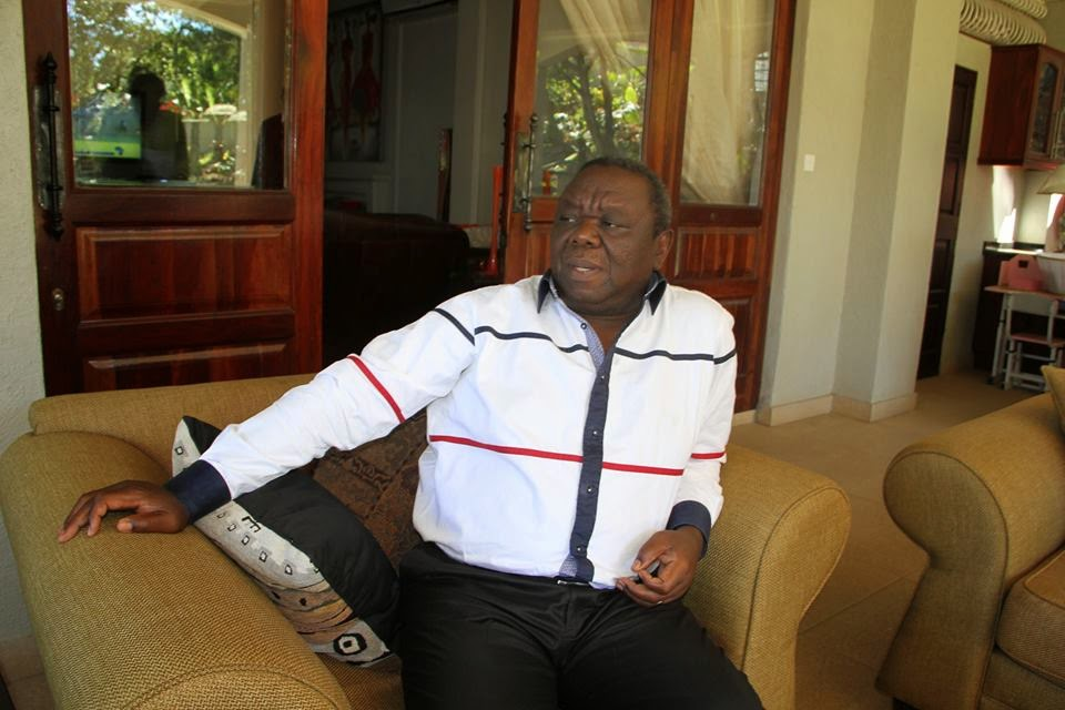 Tsvangirai at home
