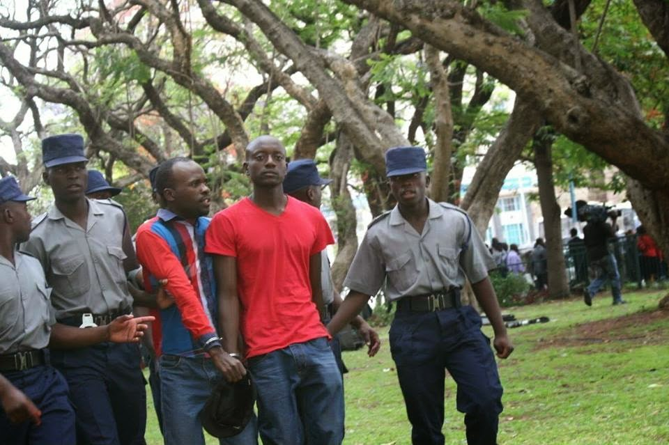 Itai and friend, arrested by the police