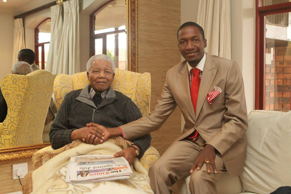 Prophet Angel with the late former head of state, the first president of the Republic of South Africa, Nelson Rolihlahla Mandela.