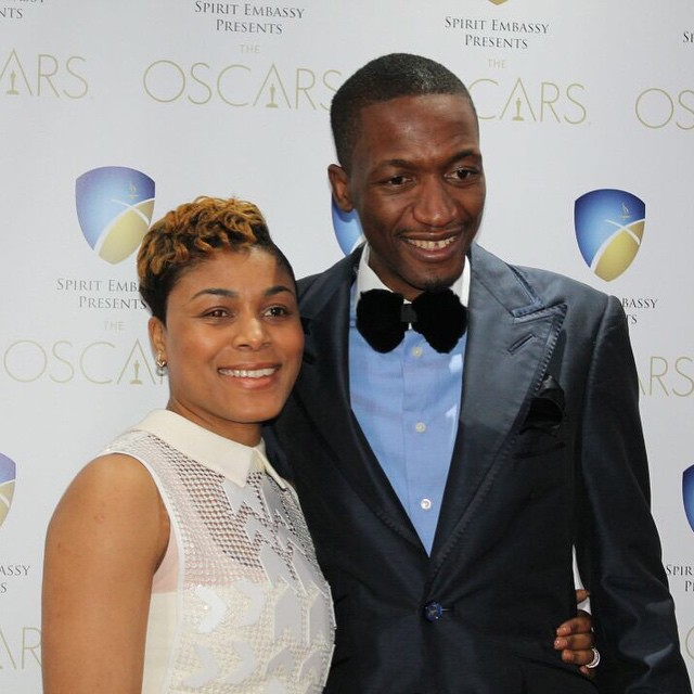 Uebert Angel and wife bebe at the Oscars