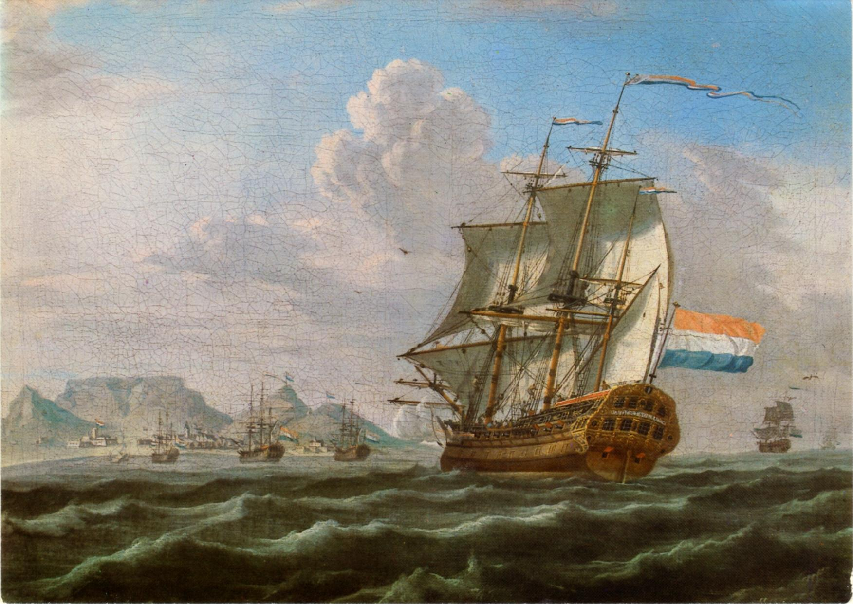 Anonymous_The_Noord-Nieuwland_in_Table_Bay,_1762