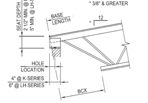 Sloped Joist Seat Example