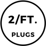 2 Foam Plugs Per Foot Icon