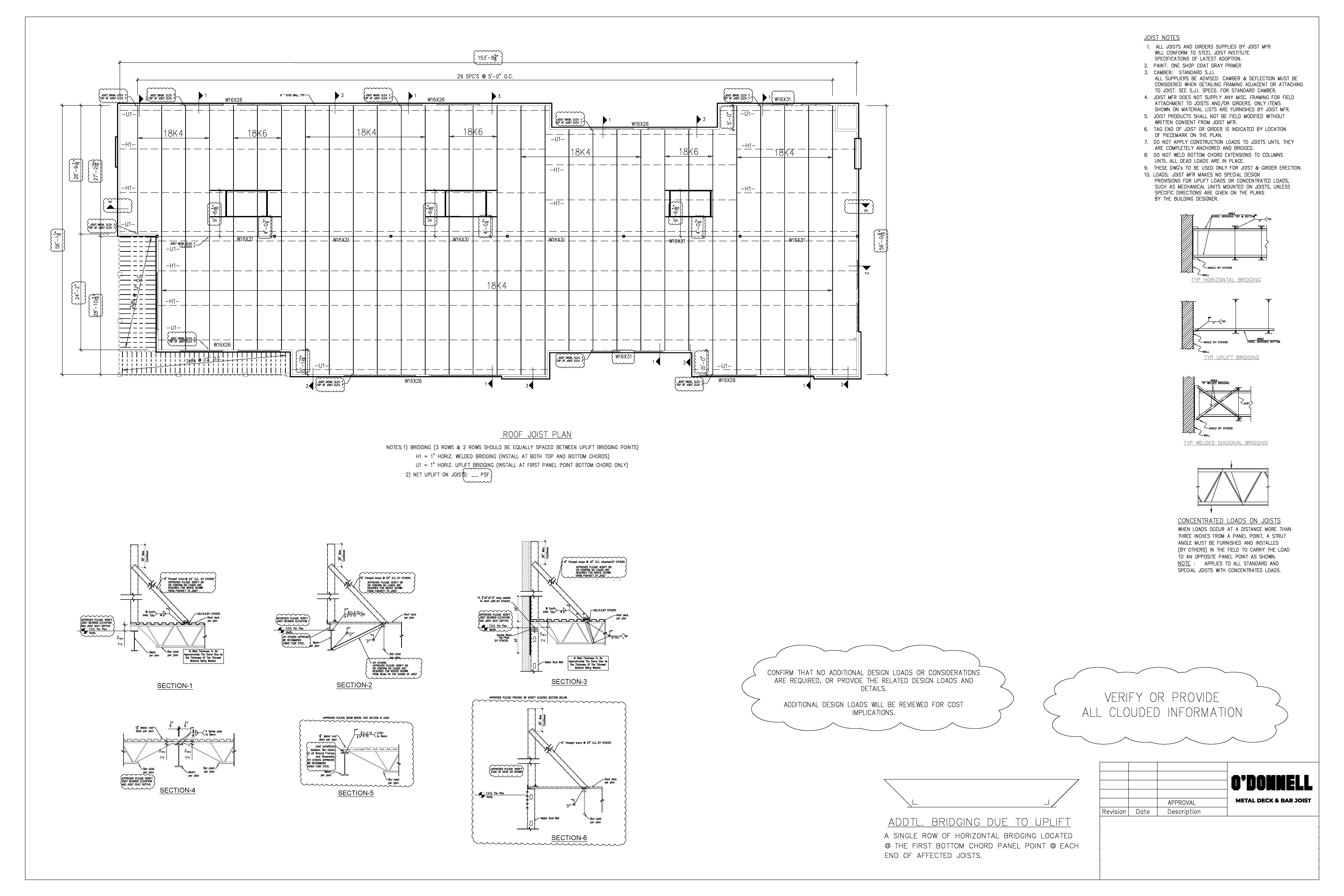 Example Metal Deck Shop Drawing