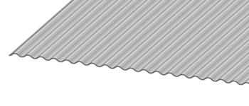 "1 1/4"" Corrugated Metal Panel Closeup"