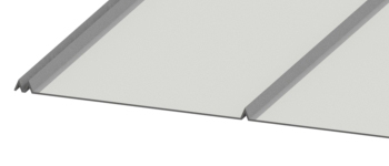 5V Crimp Panel Metal Closeup