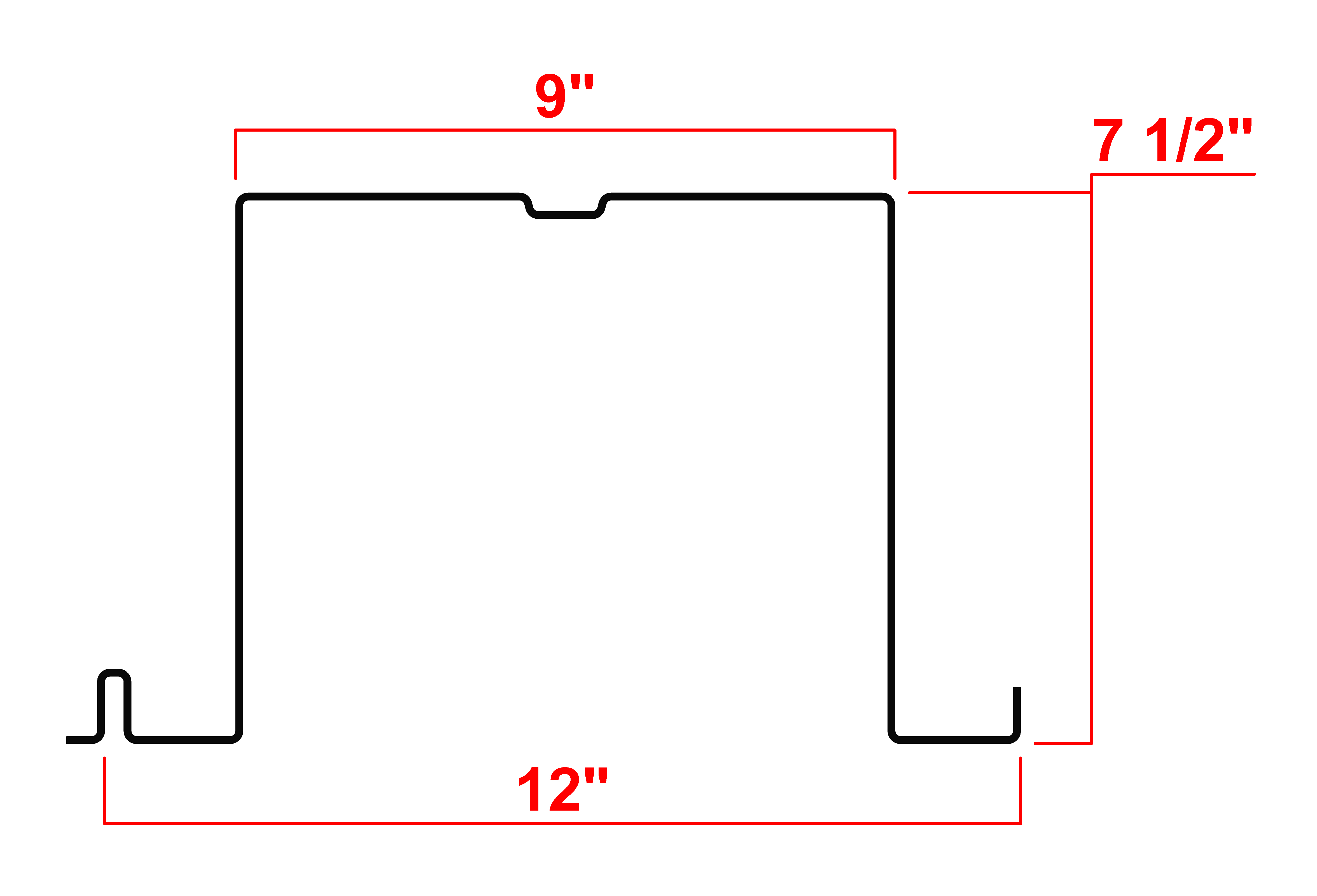 "7.5"" Type H Deck Profile"