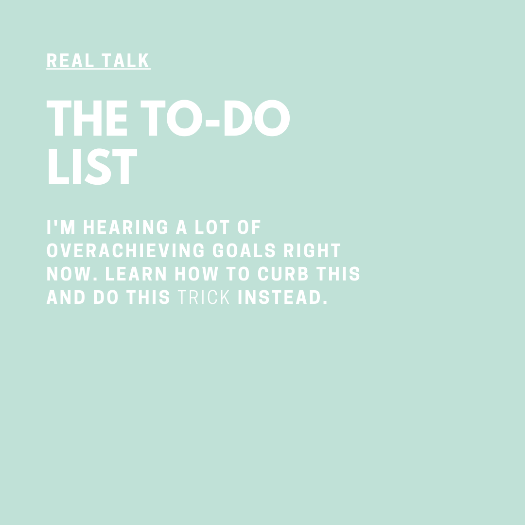 Real Talk Audio Series with Coach Jessica Elliott The to do list