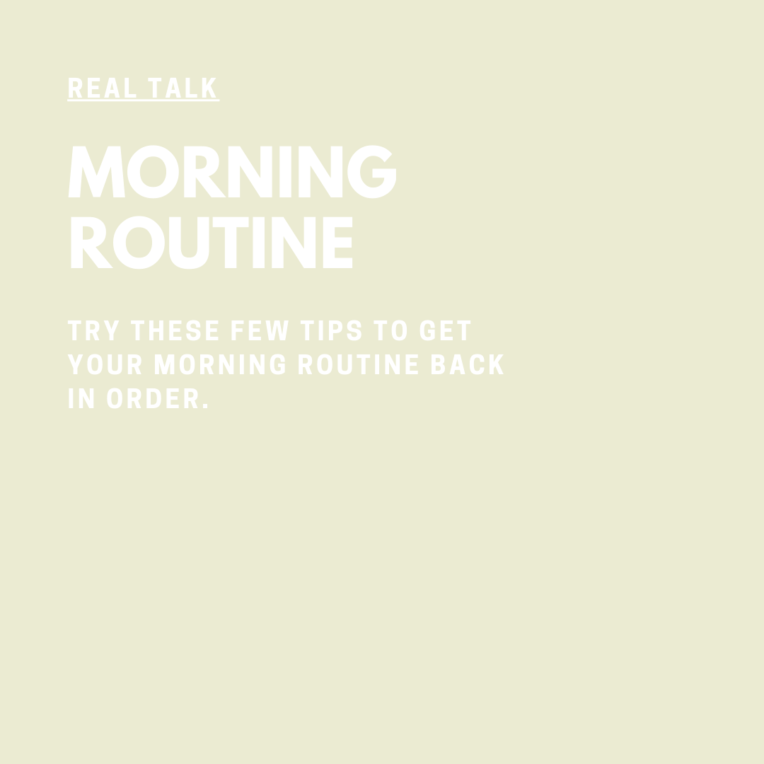 Real Talk Audio Series with Coach Jessica Elliott morning routine