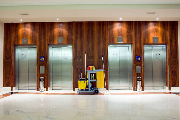commercial cleaning elevator area