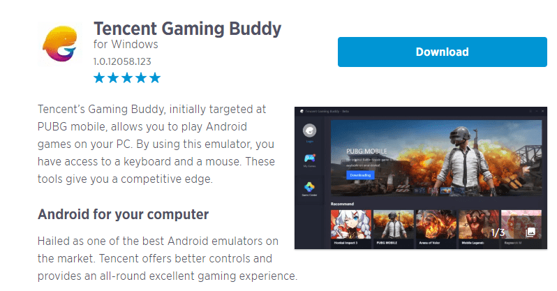 Tencent Gaming Boddy -computergii