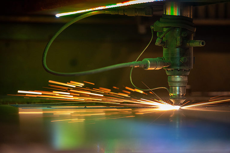 Robotic mig welding of industrial fan guard manufacturing.