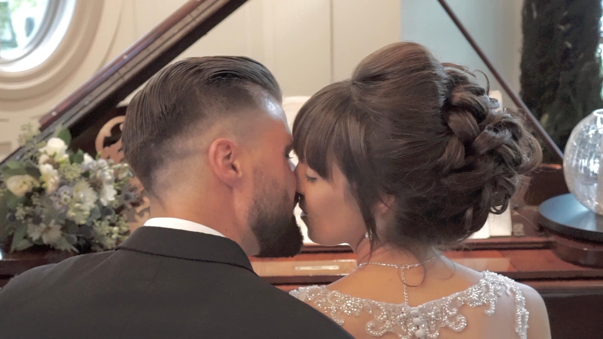 Mariage, Couple de mariés, vidéo de mariage, film de mariage, Piano