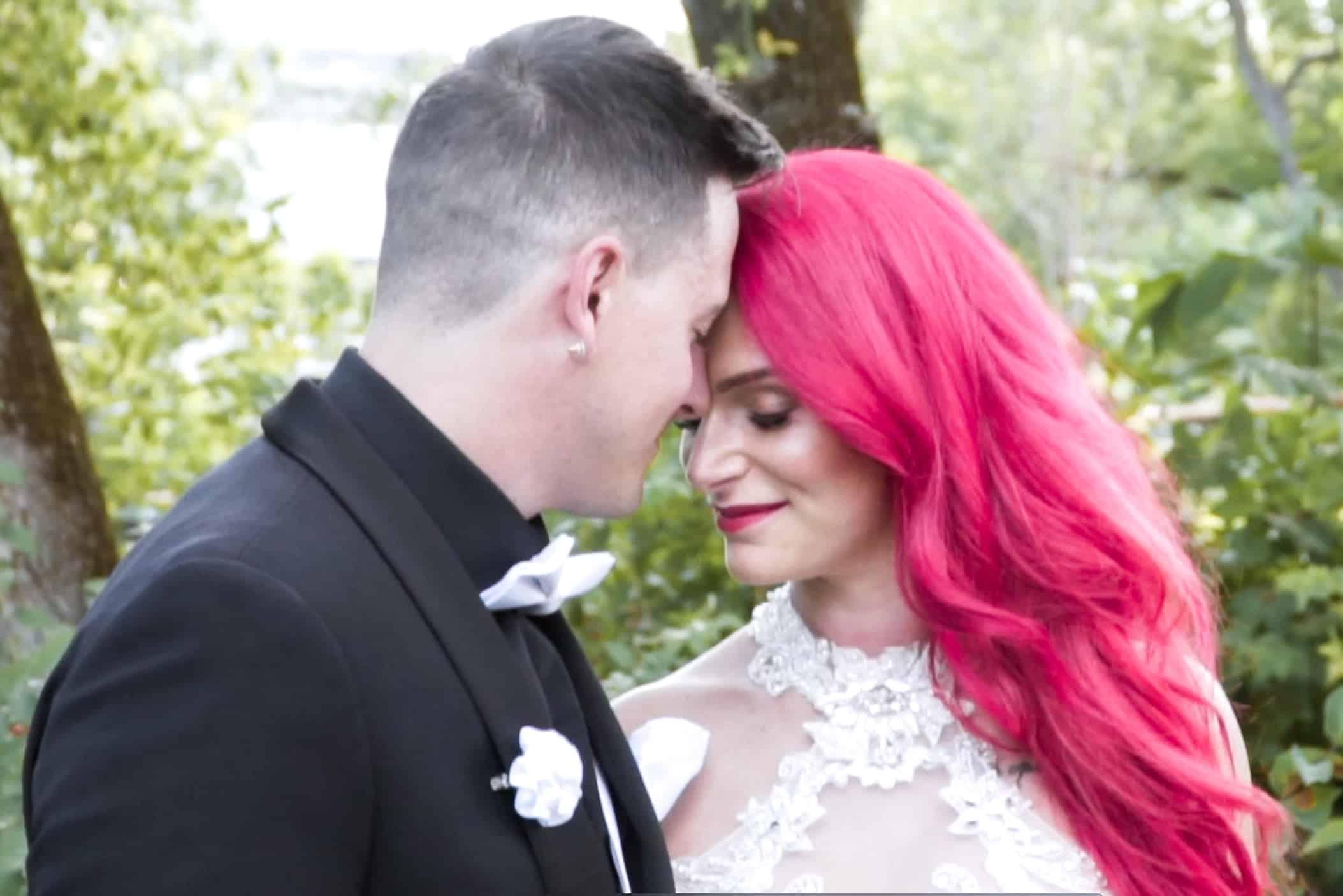 Couple de mariés, vidéo de mariage, film de mariage