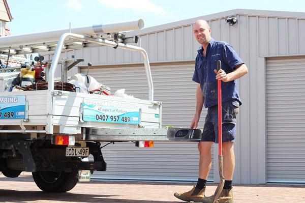 Macarthur Plumbing work ute in Kiama