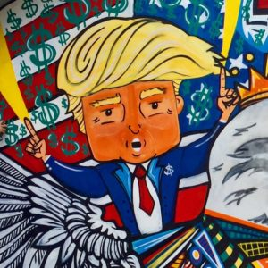 Donald Trump Graffiti - Adam Sinai