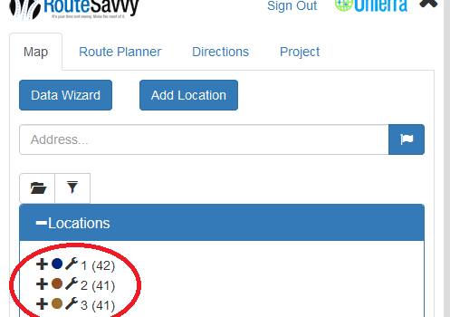 Route Planner Features – Folders | RouteSavvy Route Planner