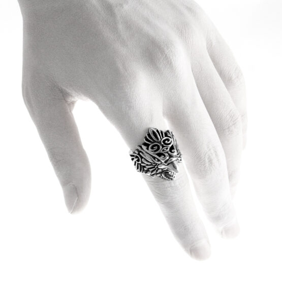 Ether11 Silver The Messenger Hawk Ring