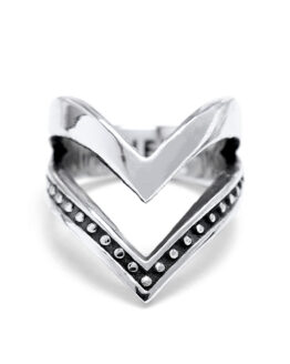 Ether11 Silver Faternal Ring