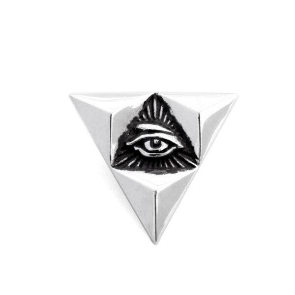 Ether11 Silver Sierpinski's Eye Pin