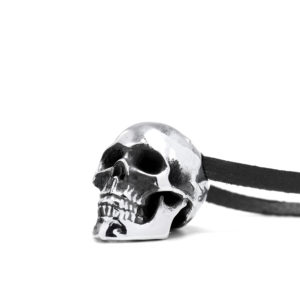 Ether11 Silver Guardian Skull Pendant