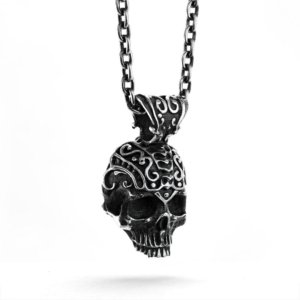 Ether 11 Sterling Silver Nemo Skull Pendant