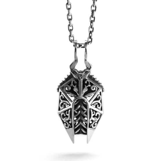 Ether 11 Sterling Silver Egyptian Victorian Scarab Pendant