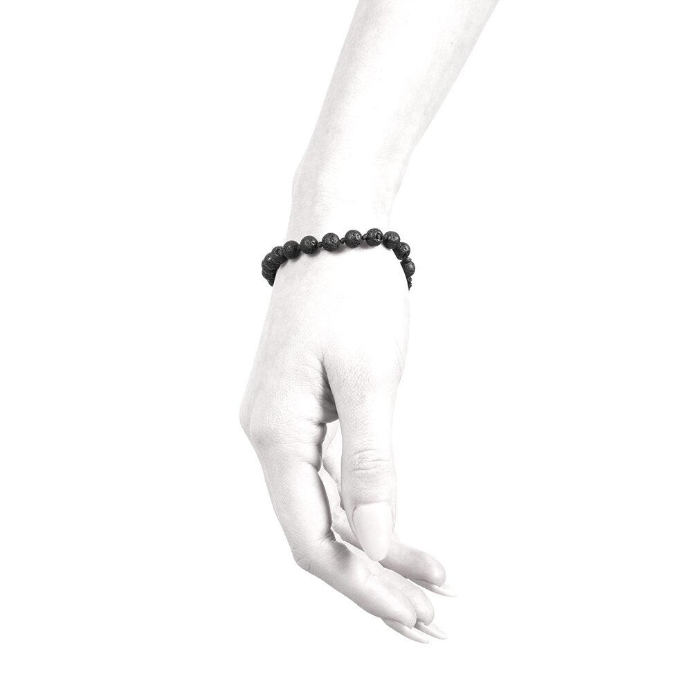 Ether11 Lava Rock Knotted Bead Macrame Bracelet