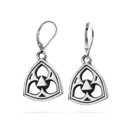 Ether11 Gothic Trefoil Earrings