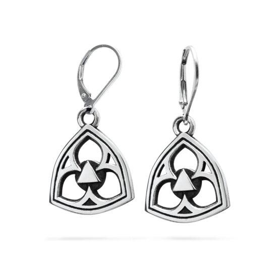 Ether11 Gothic Trefoil Earrings