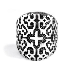 Ether11 Shipibo Geometric Pattern Ring