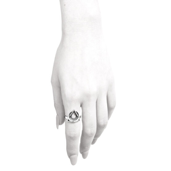 Ether11 Sterling Silver Trinity Moon Ring