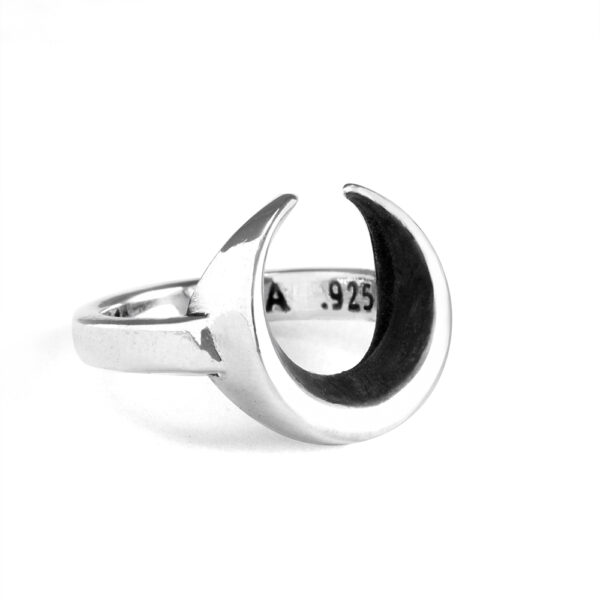 Ether11 Silver Moon Ring