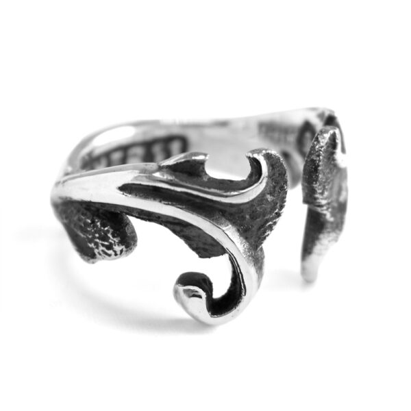 Ether11 Sterling Silver Open Filigree Victorian Ring