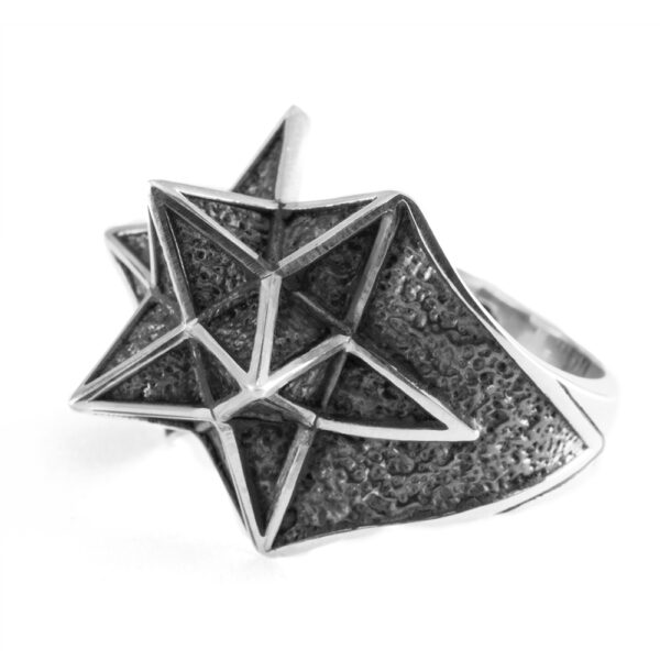 Ether11 Stellation Geometry Star Sterling Silver Ring