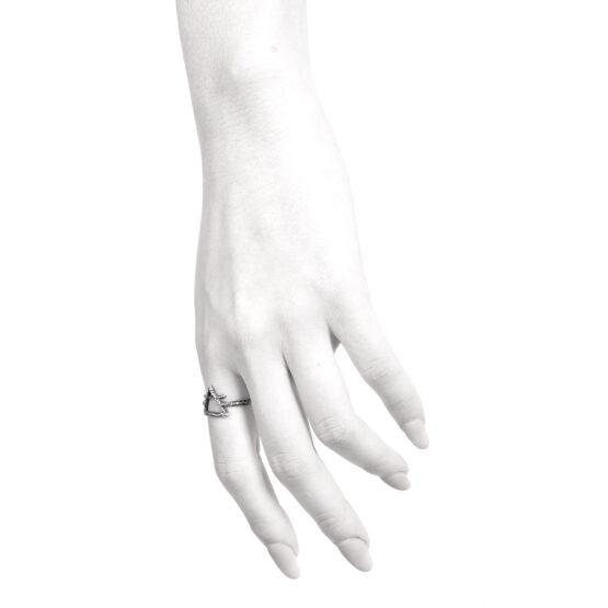 Ether11 Air Symbol Alchemy Ring