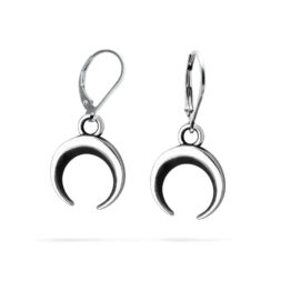 Ether11 Sterling Silver Moon Earrings