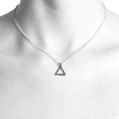 Ether11 Alchemy Symbol Fire Pendant Triangle Pyramid