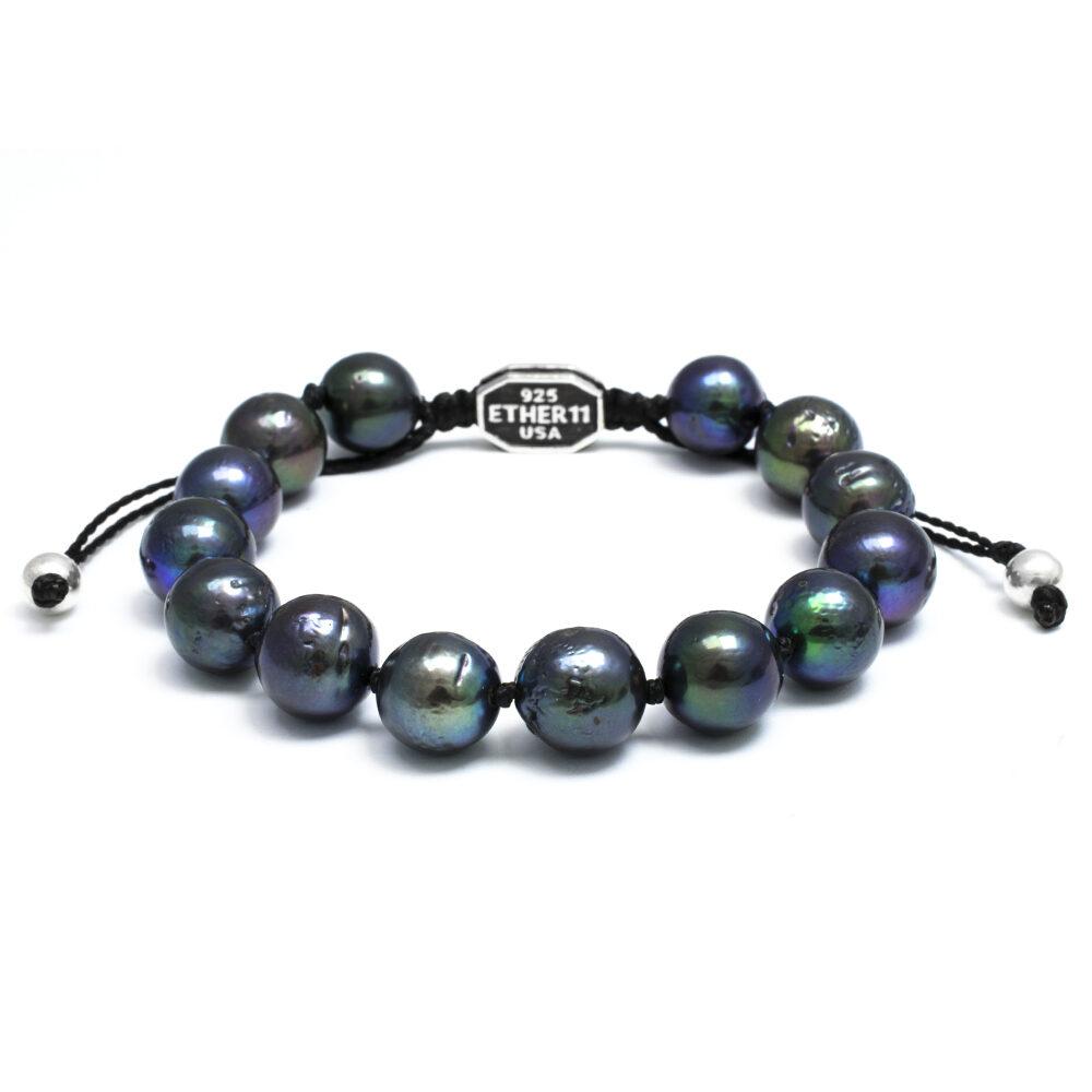Ether11 Black Freshwater Pearl Bracelet