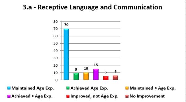 Aggregate Child Progress Report - Column Chart