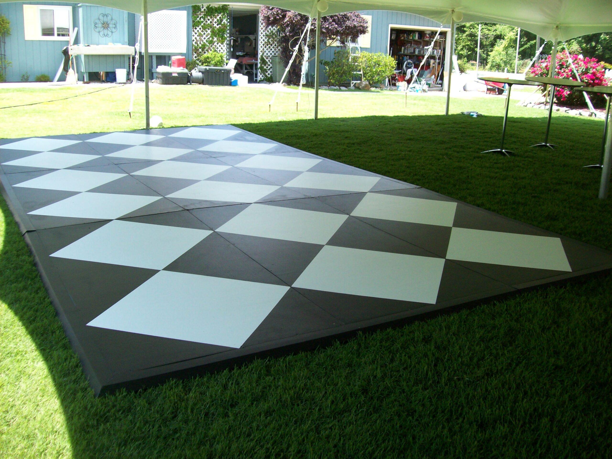 Classic Rentals - Black and White Dance Floor