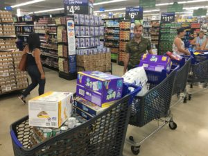 Walmart and supplies for hurricane relief