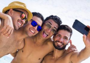 hot guys selfie