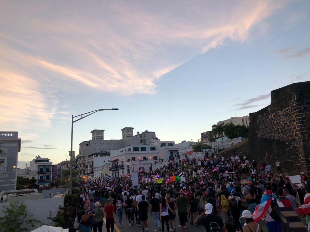 Protestors near the Capitol