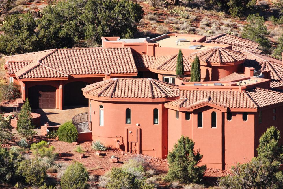 Villa Mansion Home Stucco Facade Architecture
