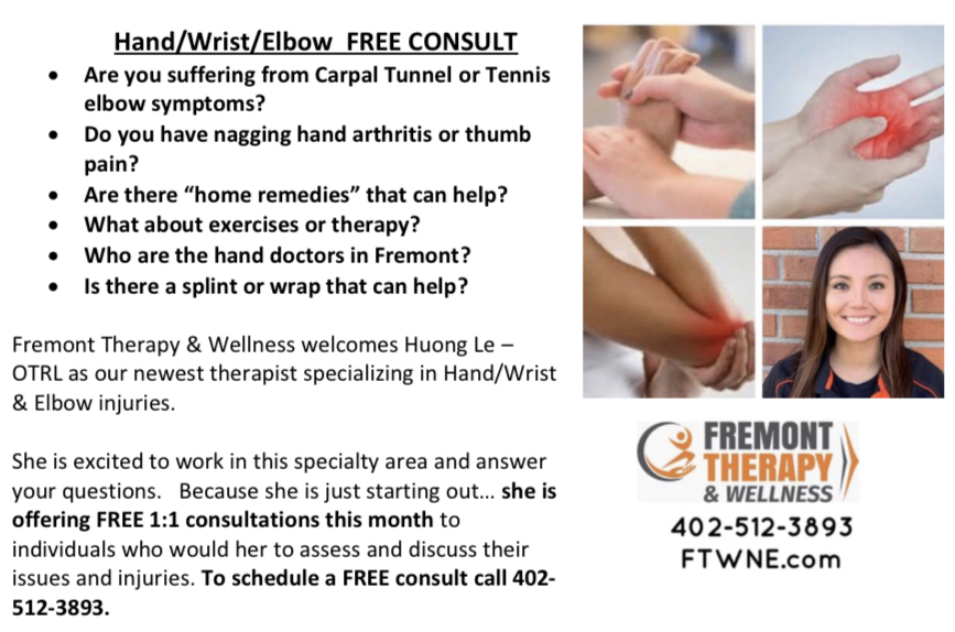 Fremont Therapy Hand OT Consult