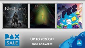 Recibe hasta un 70% en el PAX Sale de PlayStation Store