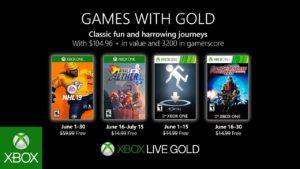 Xbox anuncia los juegos gratuitos de Games with Gold (Junio 2019)