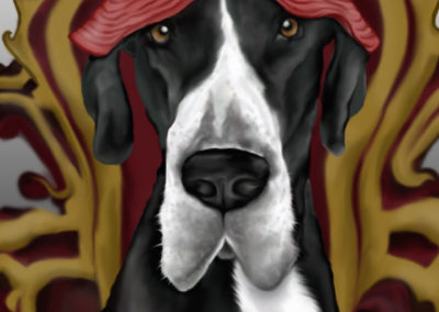 Riley Cartoon - My Buddy Pet Portraits